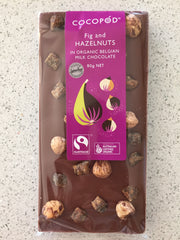Lindsay & Edmunds Cocopod MILK Fig and Hazelnuts - Organic Fairtrade chocolate