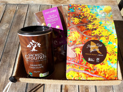Fairtrade organic coffee chocolate and drinking chocolate gift hamper