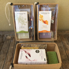 Organic Fairtrade Favourites Gift Pack - Tea, Chocolate and Soap