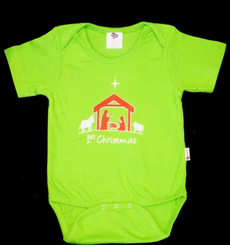 Heartsong Organic Cotton 1st Christmas Short-sleeve Bodysuit