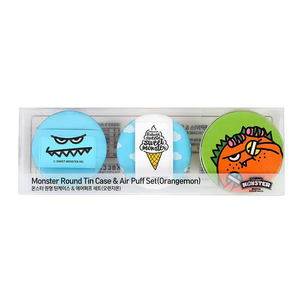 Monster Round Tincase & Air Puff Set - Sweet Monster Singapore