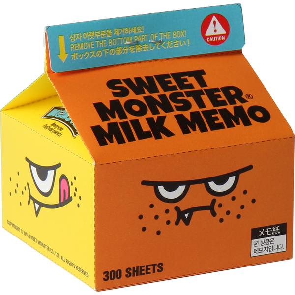 Sweet Monster Milk Memo Pad - Sweet Monster Singapore