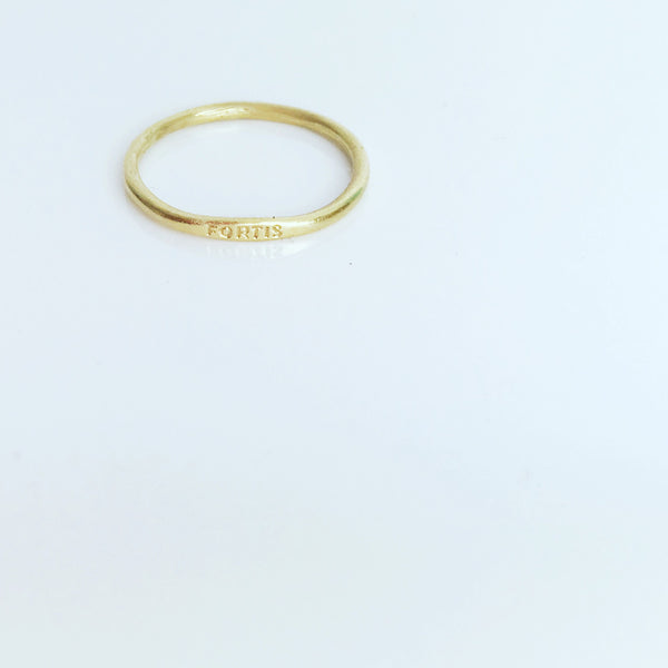 FORTIS RING - SILVER & GOLD