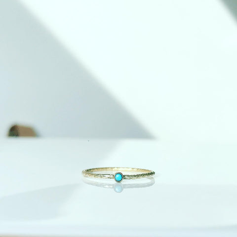 TEENY TURQUOISE GOLD RING