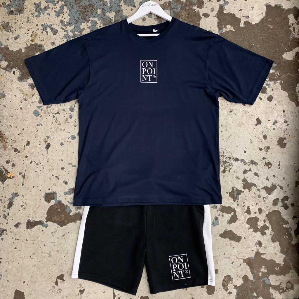 ONPOINT® Piccola Box Logo Twin Set in Navy & Black