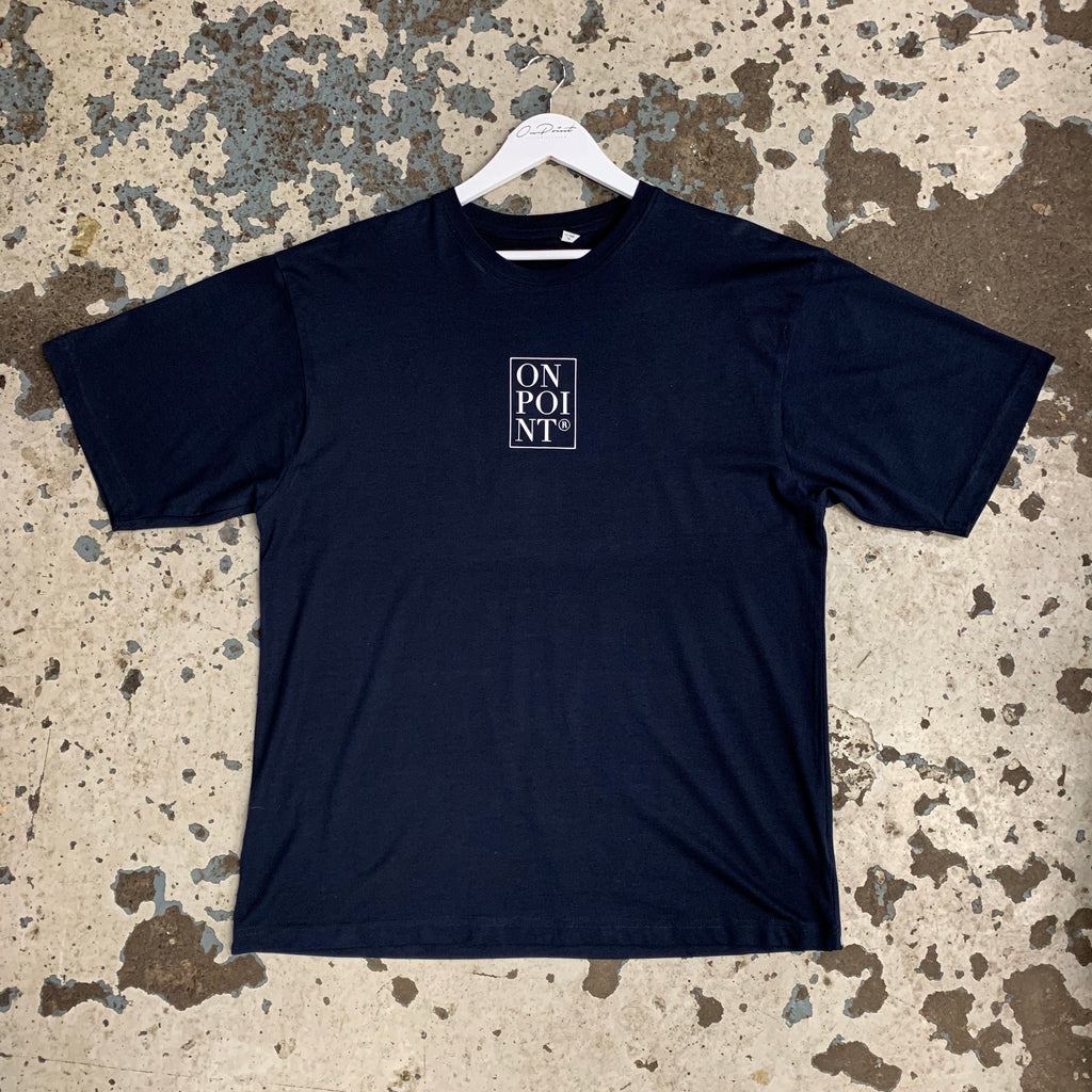 ONPOINT® Piccola Box Logo T-Shirt in Navy