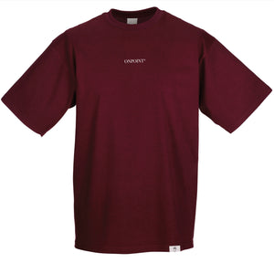 ONPOINT® SIMPLICITY - Oversize T-Shirt in Burgundy