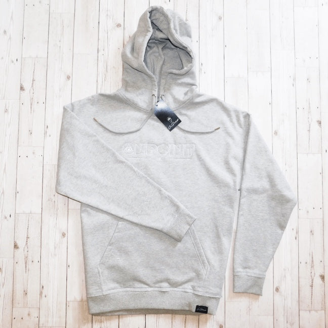 ONPOINT® Original - Distressed Hem Oversized Hoodie in Grey Marl