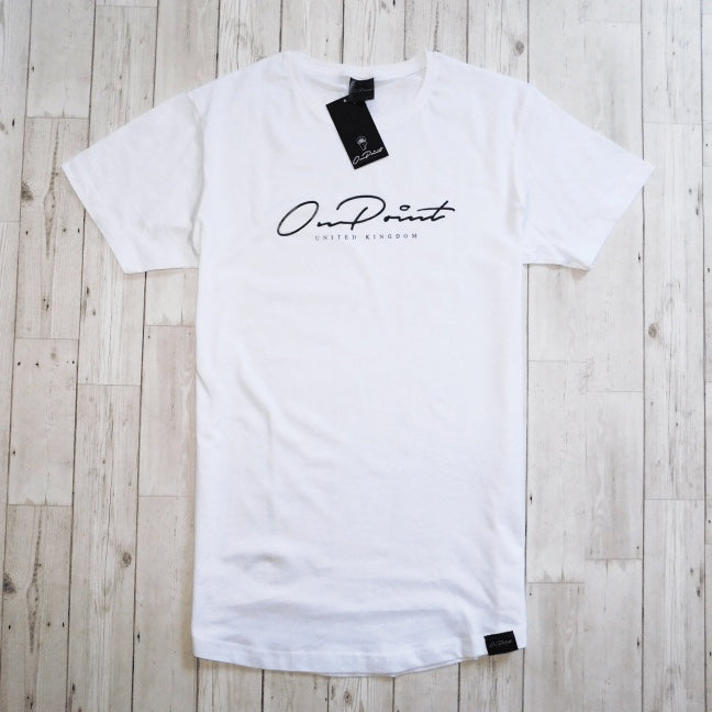 ONPOINT® Signature - Curved Hem T-Shirt in White