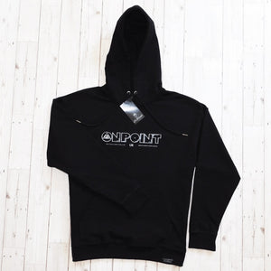 ONPOINT® Original – Distressed Hem Oversized Hoodie in Black