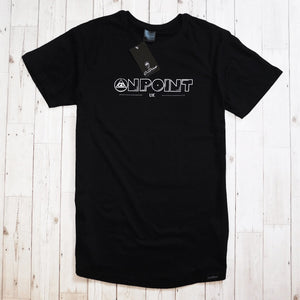 ONPOINT® Original - Curved Hem Longline T-Shirt in Black