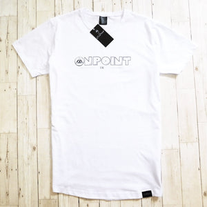 ONPOINT® Original - Curved Hem Longline T-Shirt in White