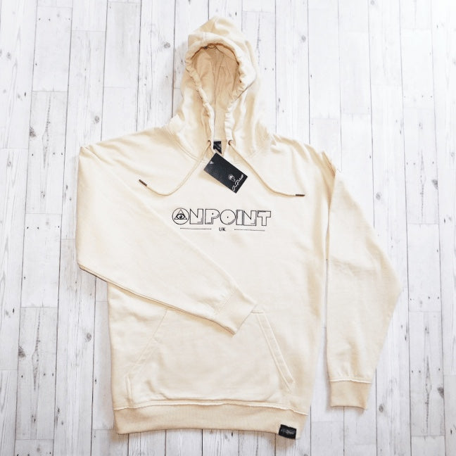 ONPOINT® Original – Distressed Hem Oversized Hoodie in Sand