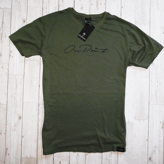 ONPOINT® Signature - Curved Hem T-Shirt in Khaki