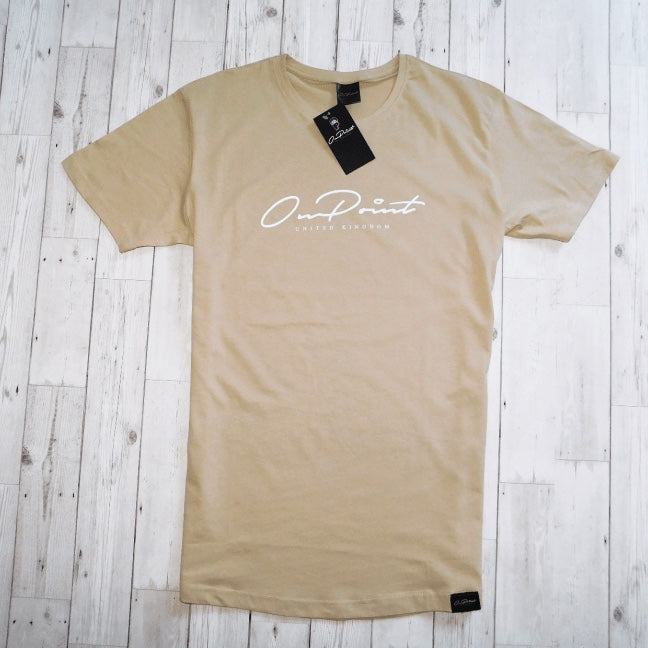 ONPOINT® Signature - Curved Hem T-Shirt in Sand