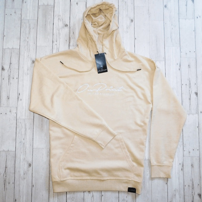 ONPOINT® Signature – Distressed Hem Oversized Hoodie in Sand