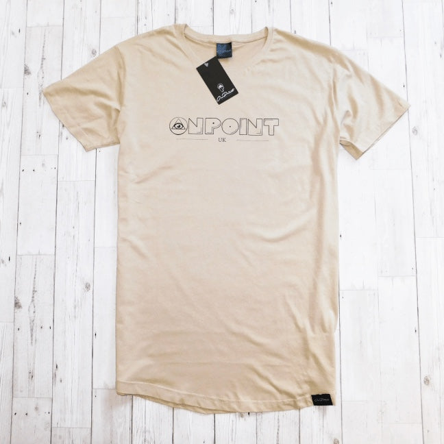 ONPOINT® Original - Curved Hem Longline T-Shirt in Sand