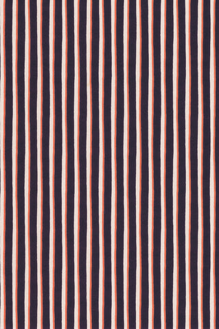 PAINTED STRIPE / ORANGE-NOIR