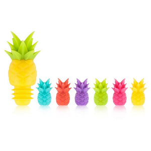 Tropical Pineapple Charms + Bottle Stopper