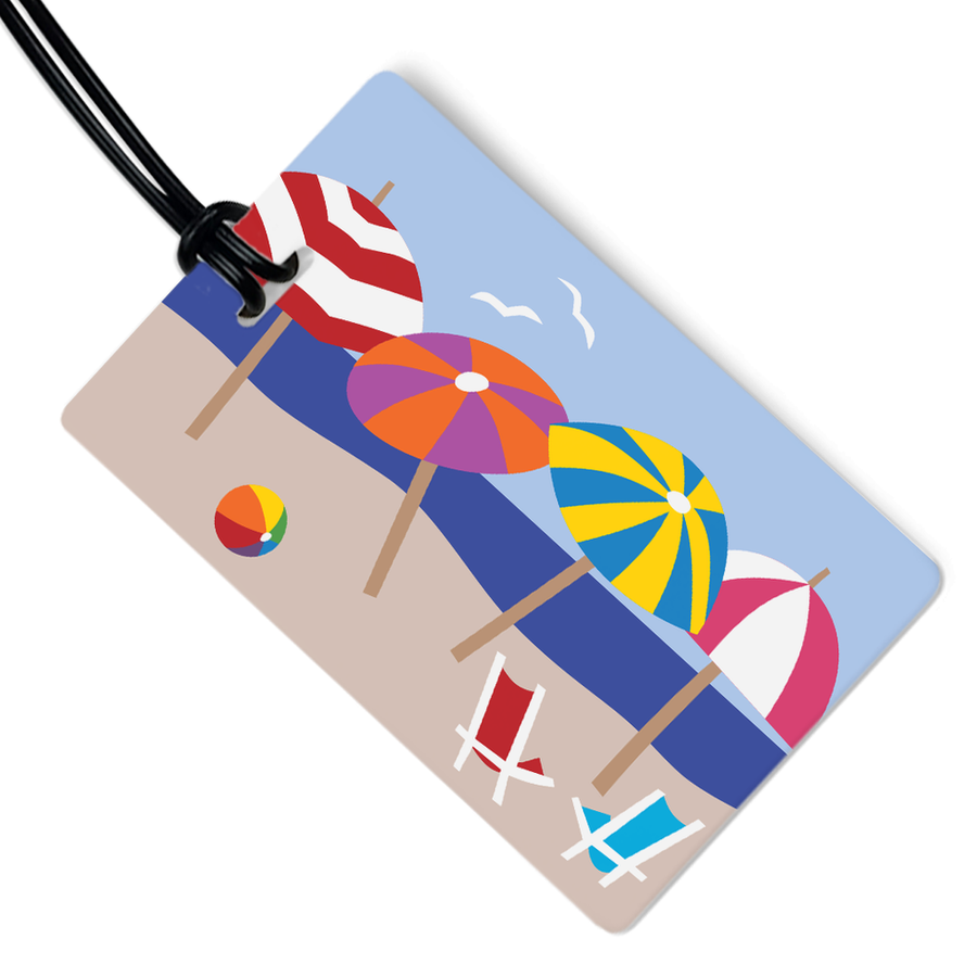 BEACH UMBRELLAS LUGGAGE TAG