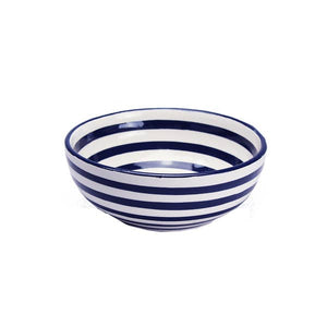 Cobalt Stripe Cereal Bowl