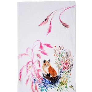 BETSY OLMSTED TEA TOWEL FOX