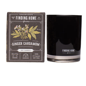 Ginger Cardamom Soy Candel 10 oz boxed Jar
