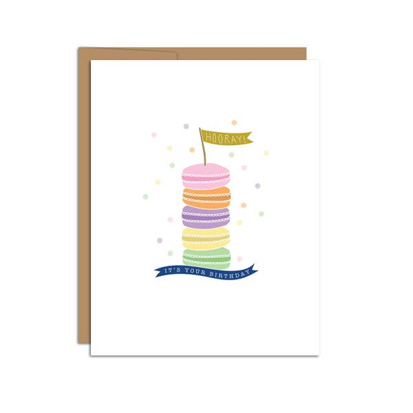 """Hooray It's Your Birthday"" Macaroons Card"
