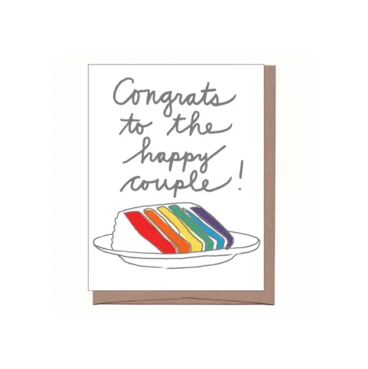 RAINBOW WEDDING CAKE CARD