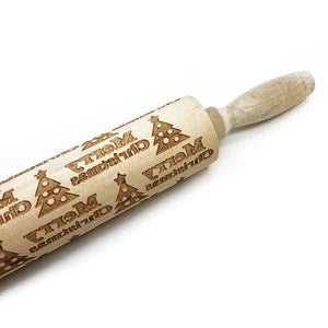 EMBOSSING ROLLING PIN - TREE