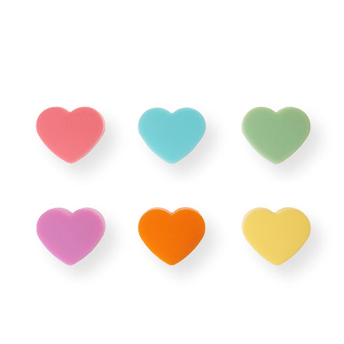 Heart Silicone Drink Charms