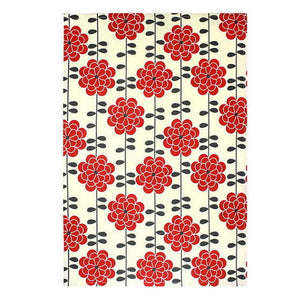 ASTER RED PRINTED TEA TOWEL