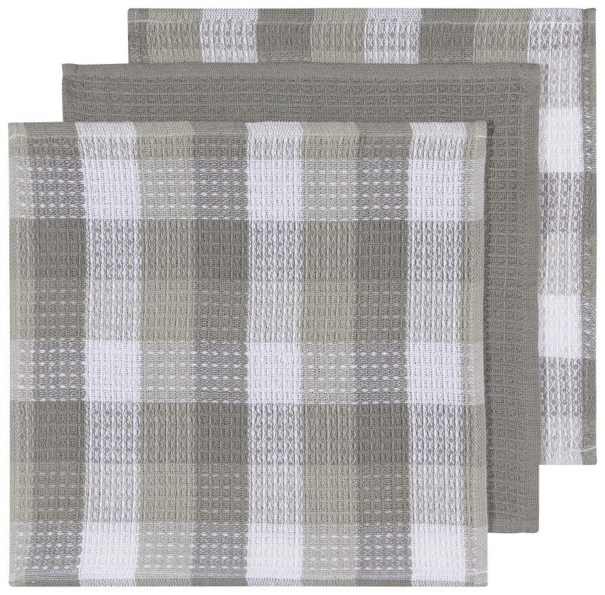 LONDON GRAY CHECK DISHCLOTHS