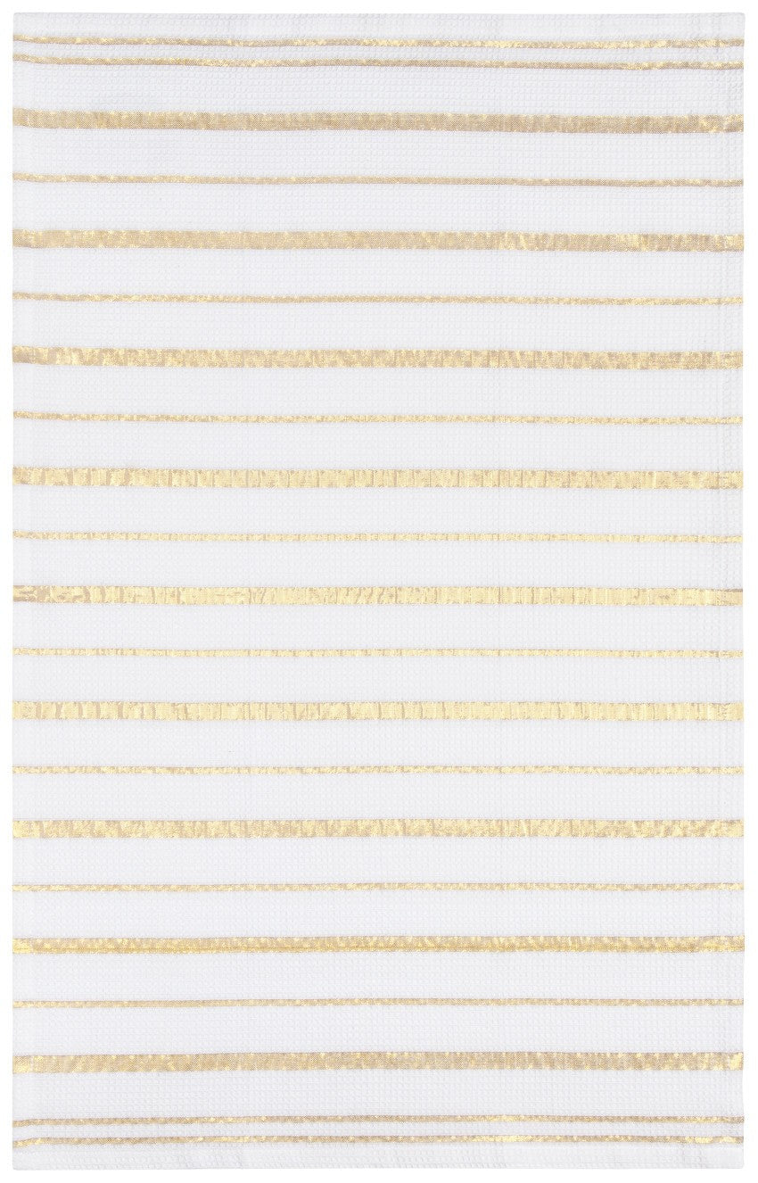 Teatowel Gold Stripe - Horizontal