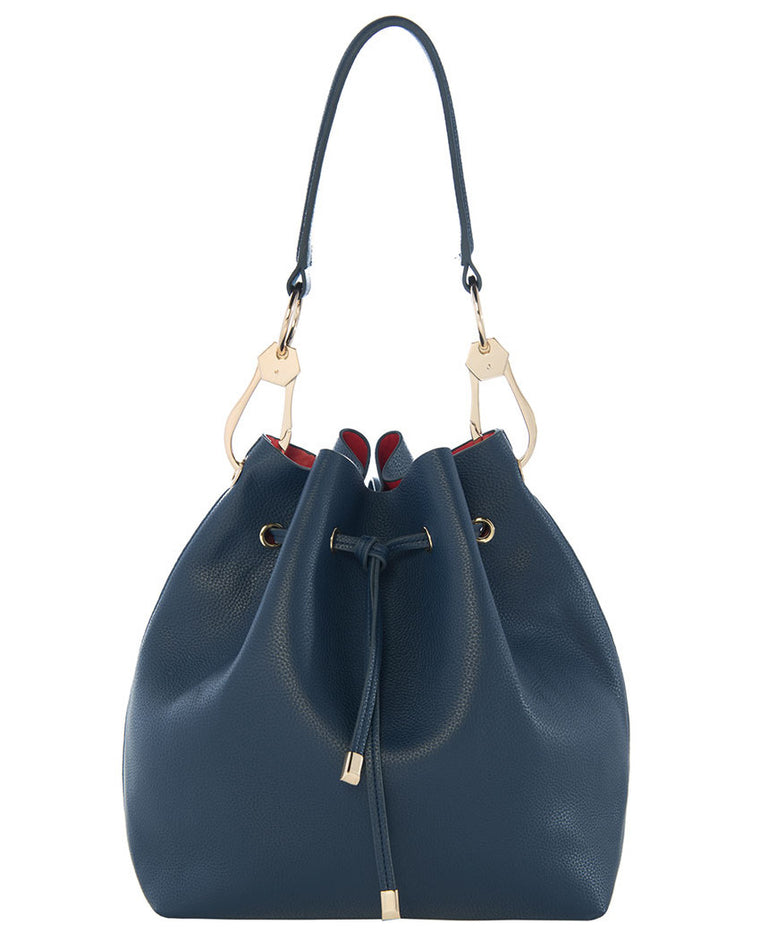 Venezia Pebble Leather Bucket Bag