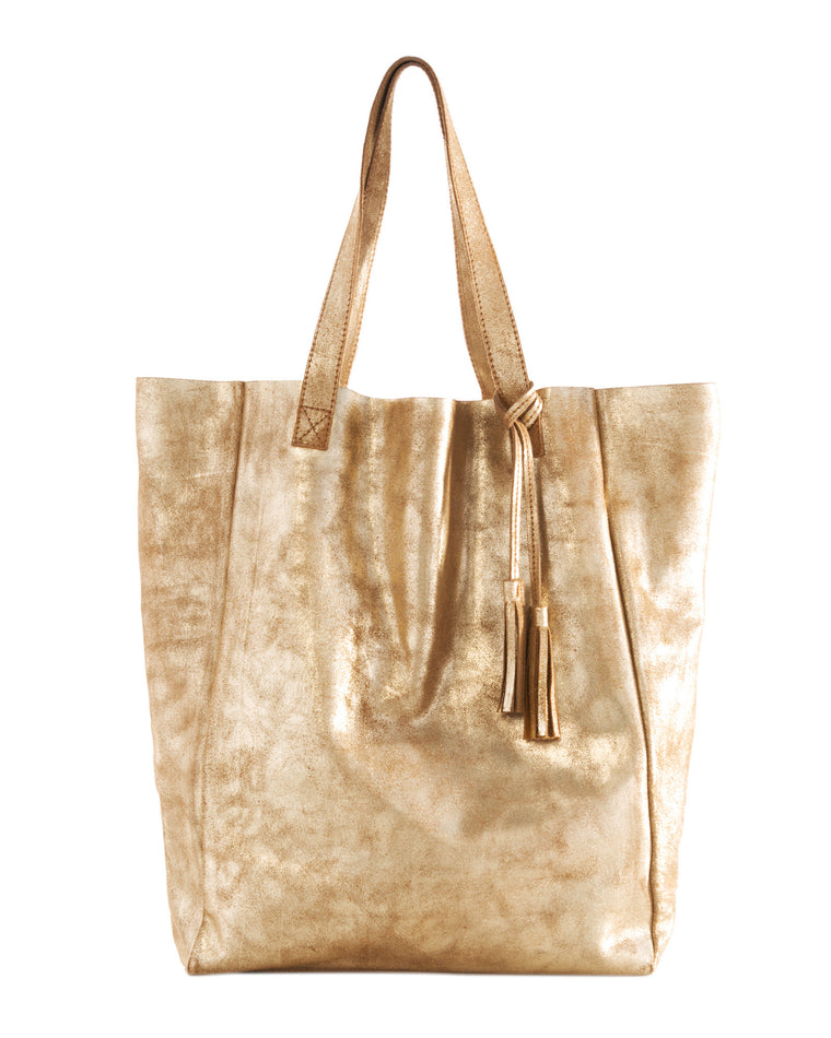 Andrea Leather Suede Shopper