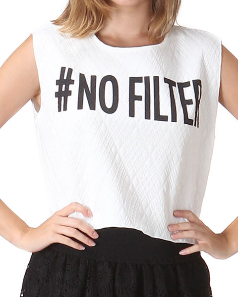 No Filter Crop Tank Top