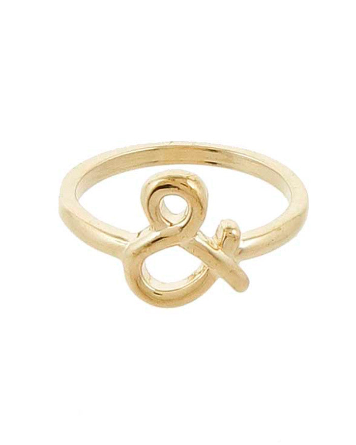 Ampersand Sign Ring