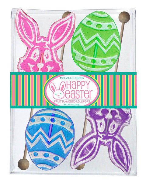Frosted Egg and Bunny Lollipop Gift Set