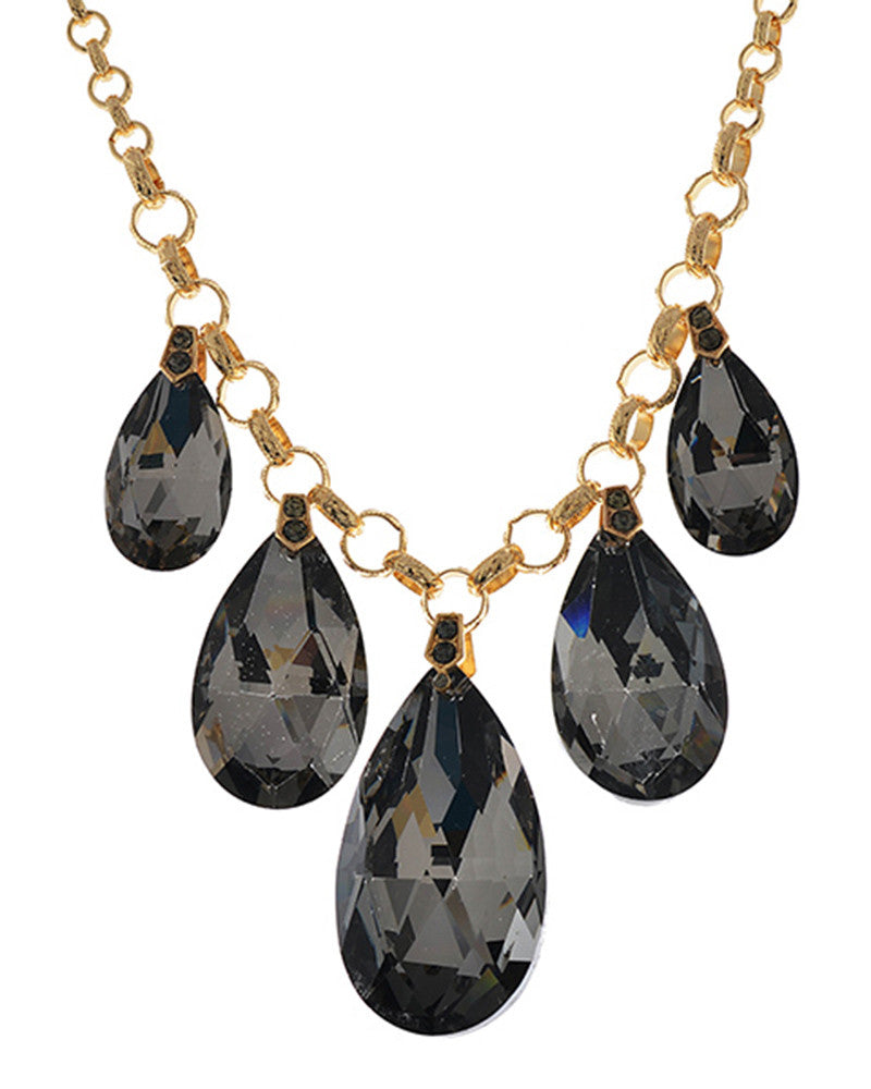 Joan Teardrop Stone Bib Necklace