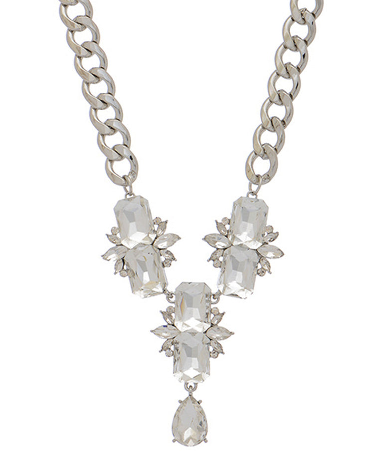 Holly Crystal Pendant Necklace