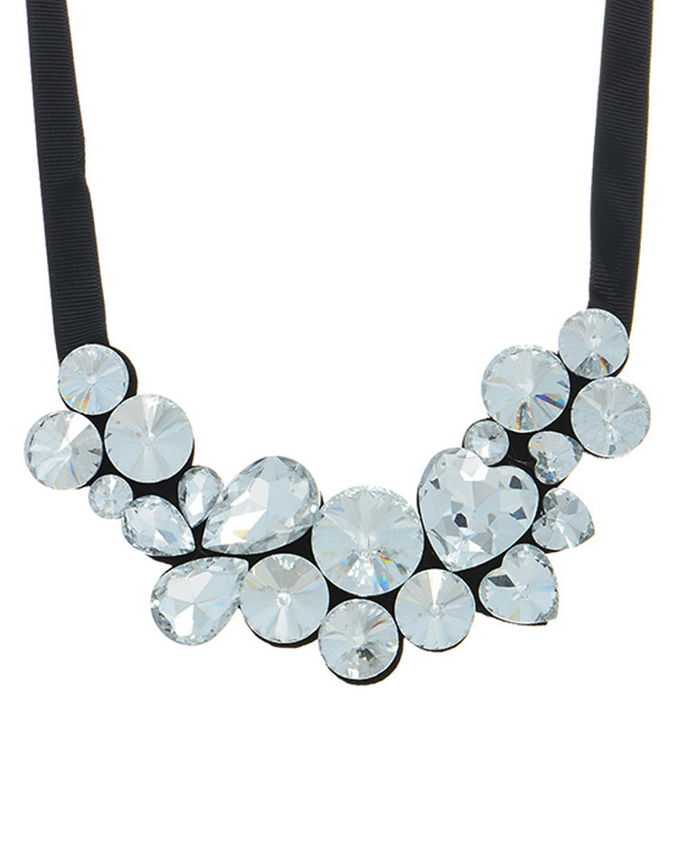 Victoria Crystal Bib Necklace
