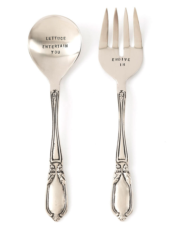 Lettuce Entertain You Salad Server Set