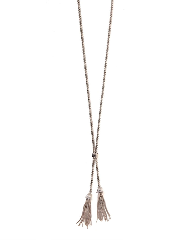 Let's Tassel Lariat Necklace
