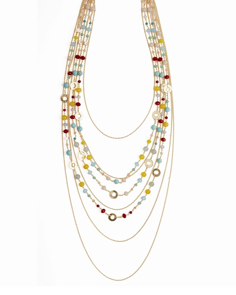 Ibiza Multistrand Beaded Necklace