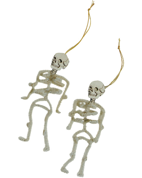 Skeleton Chenille Ornament Set
