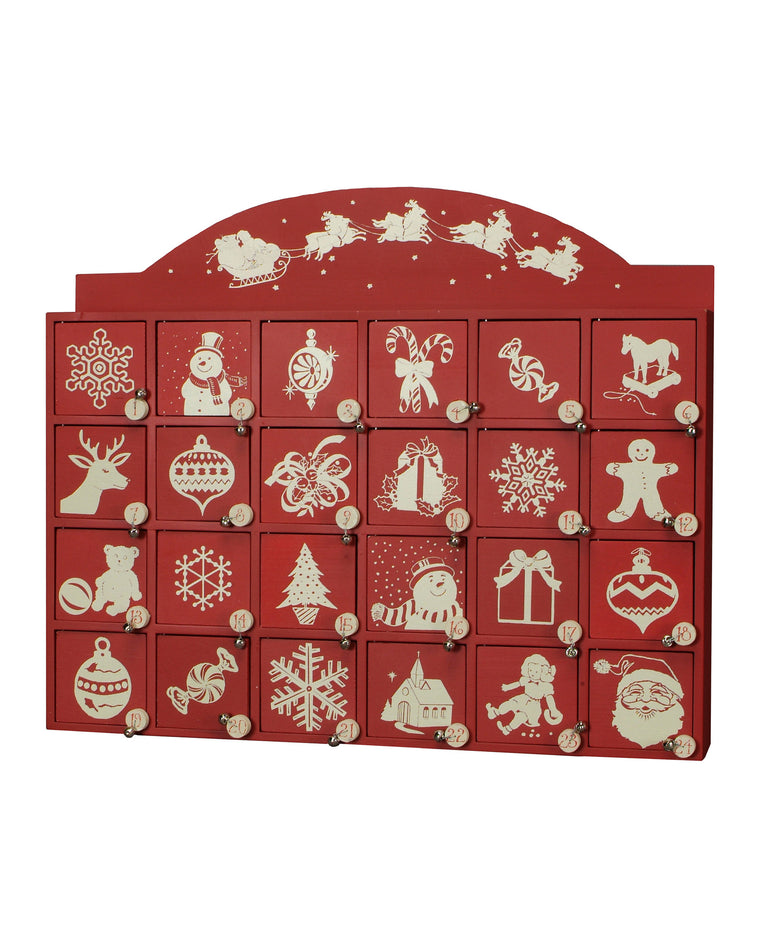 Santa and Sleigh Wooden Advent Calendar