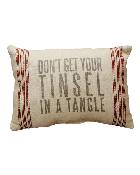 Don't Get Your Tinsel in a Tangle Pillow