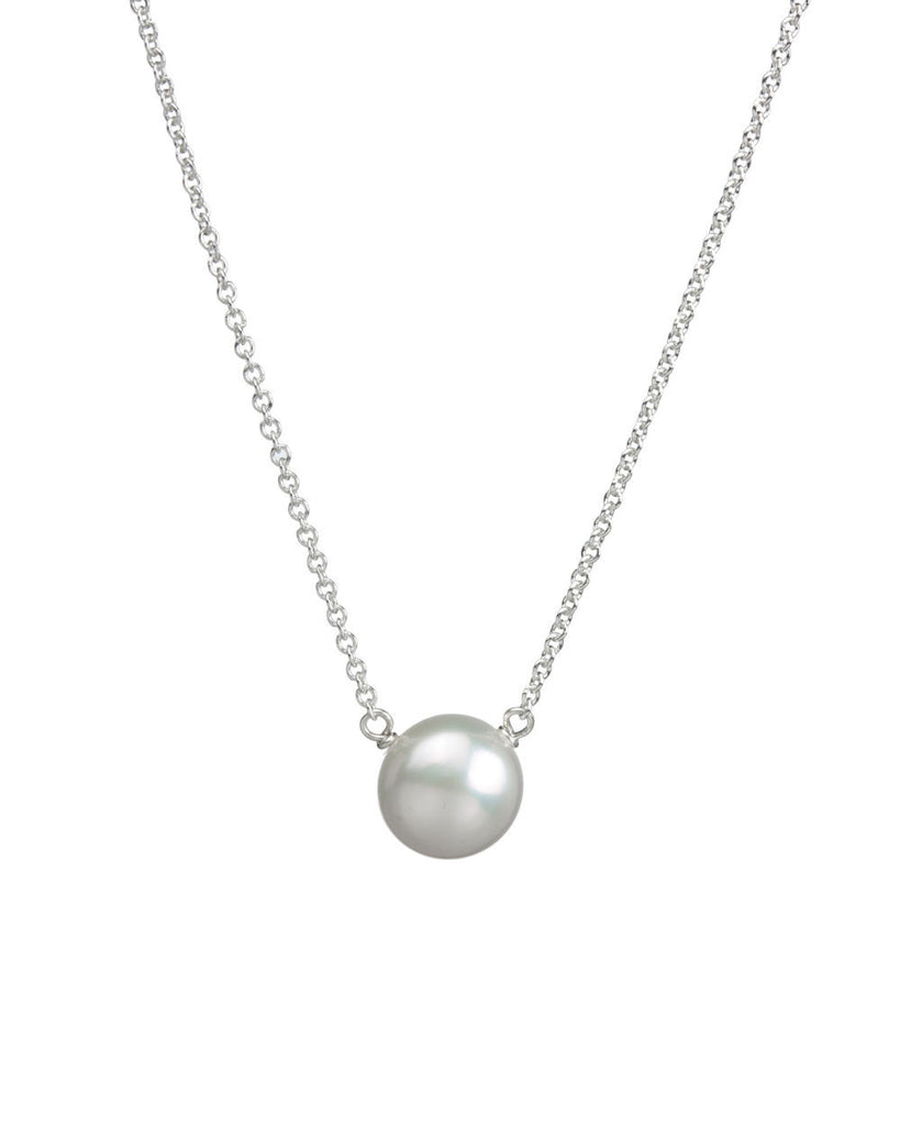 I Love Mom Freshwater Pearl Necklace