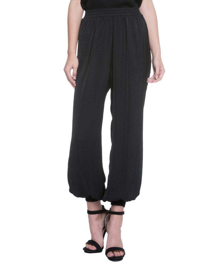 Black Pleated Harem Pants